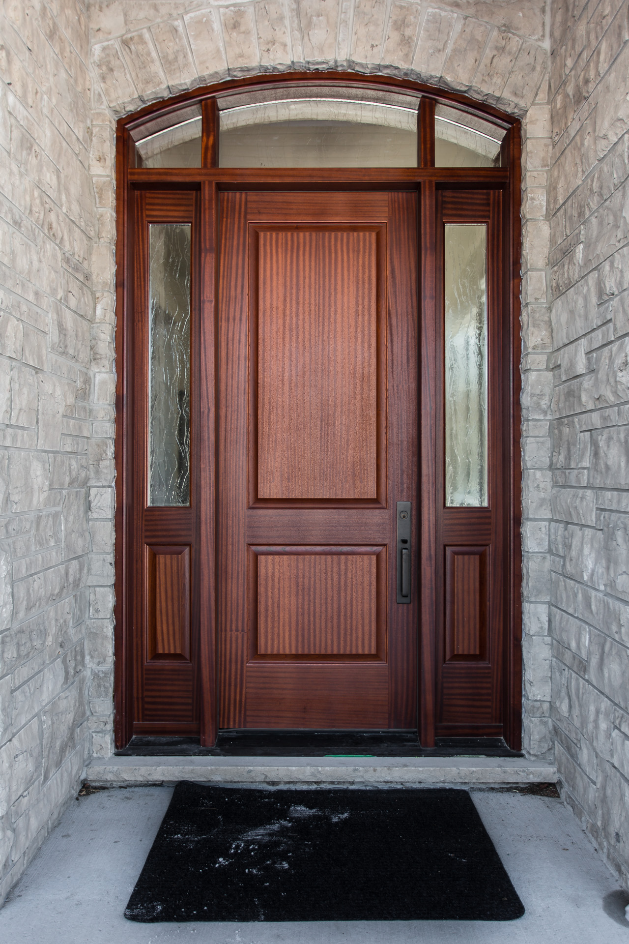 Custom mahogany entry door
