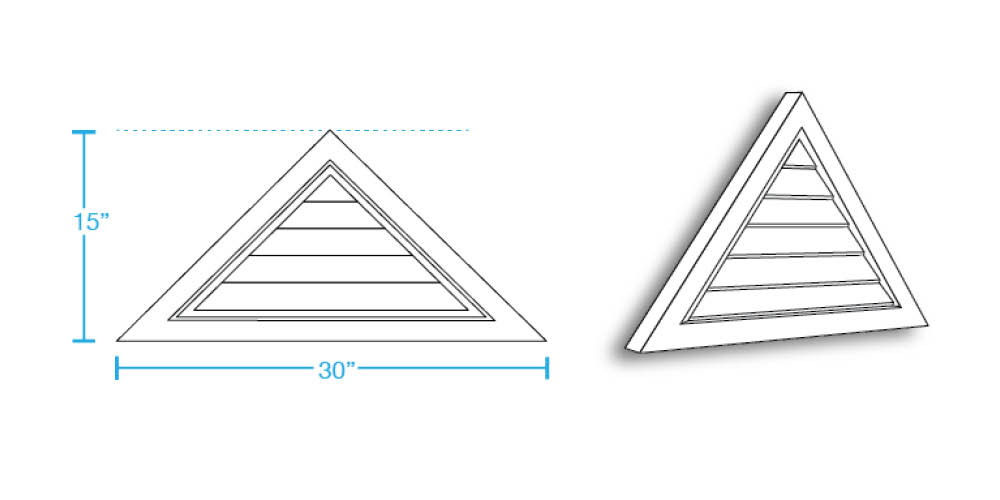 Triangle Closed Louver