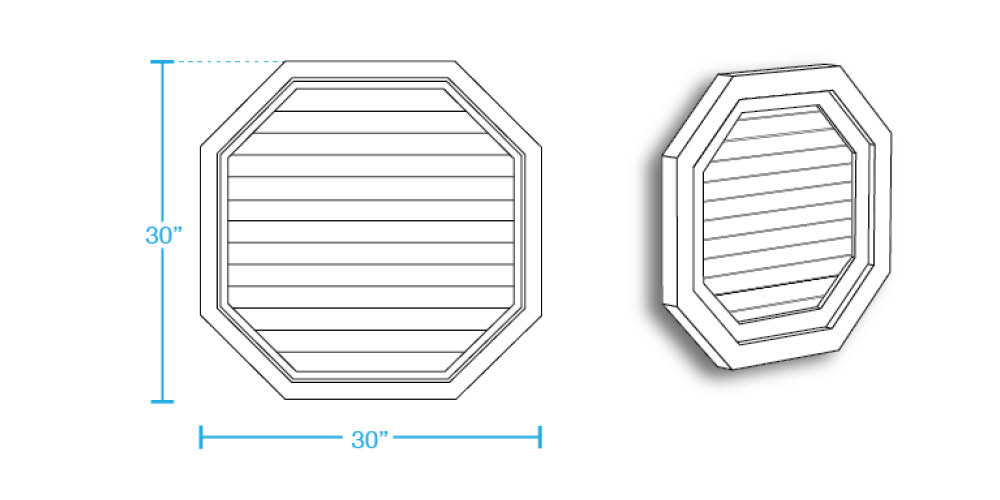 Octagonal Closed Louver