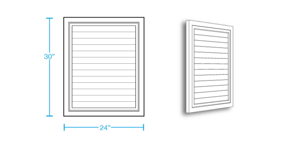Rectangular Closed Louver