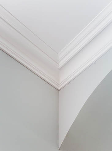 Crown moulding is designed for where the wall meets the ceiling
