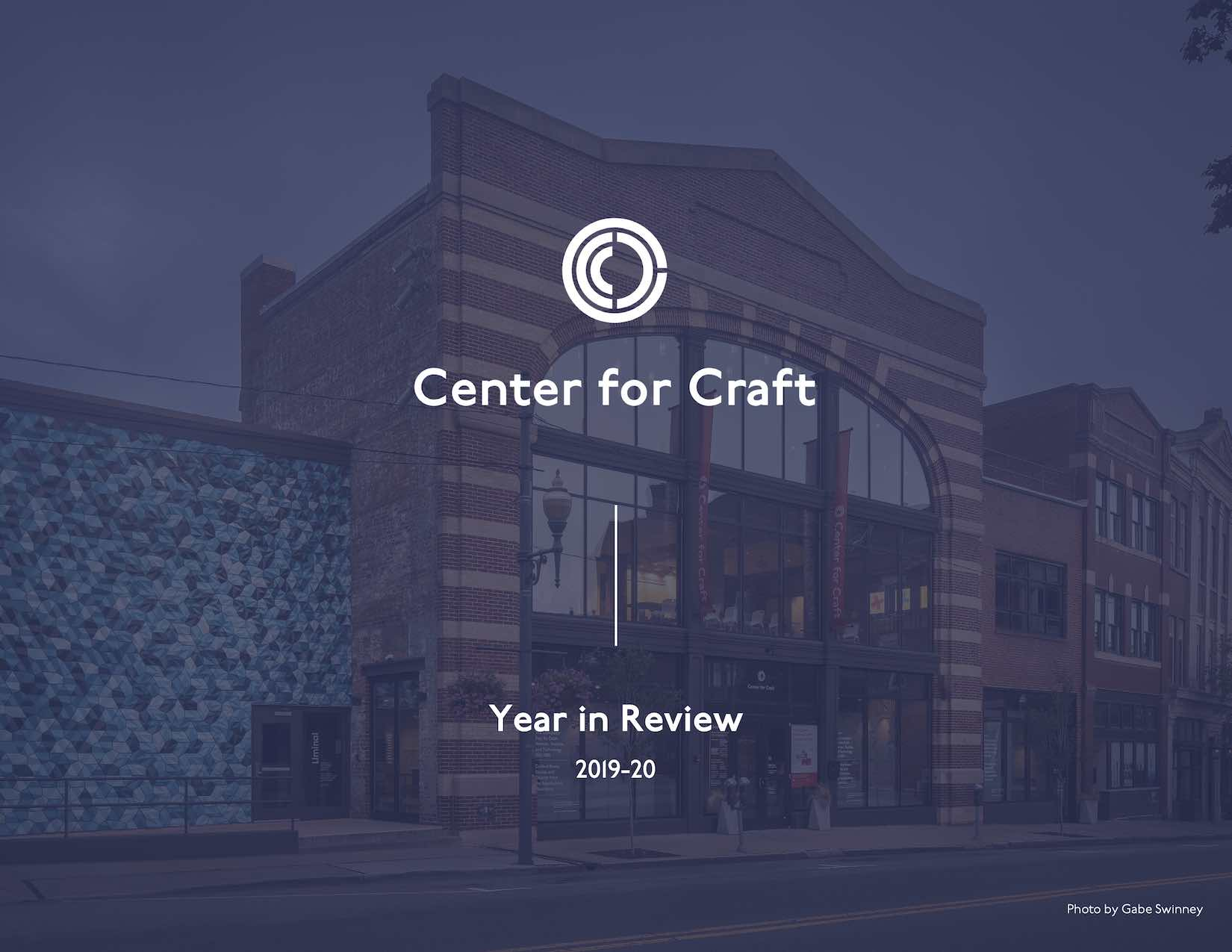 Center for Craft building with blue overlay and Center for Craft logo.
