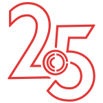 Center for Craft 25th anniversary logo in red