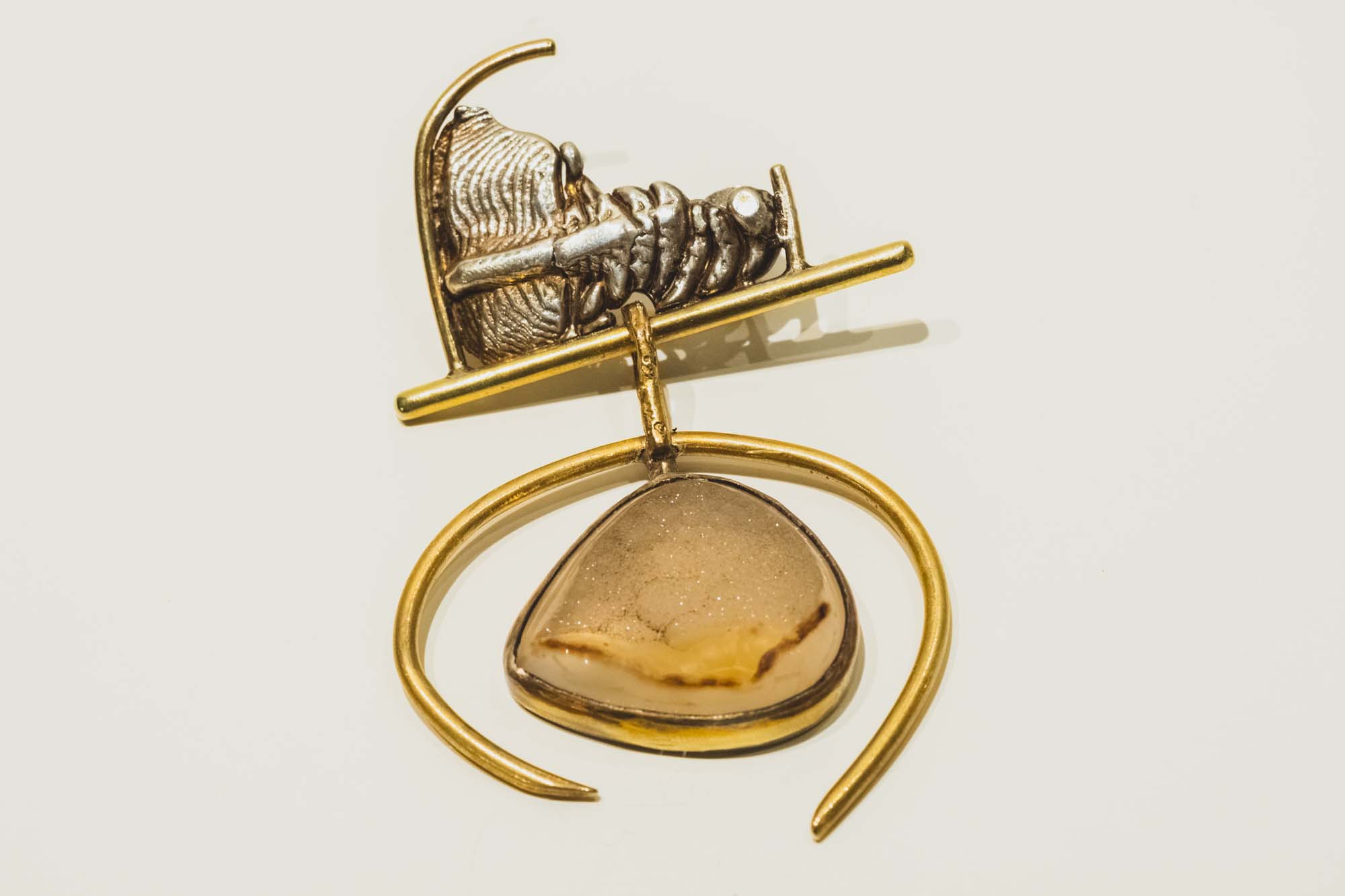 documented metal brooch from mid twentieth century