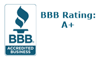 BBB logo with our A+ rating