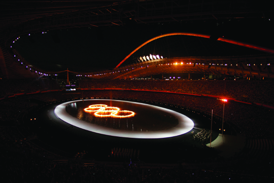 2004 Olympics Opening Ceremony in Athens, Greece