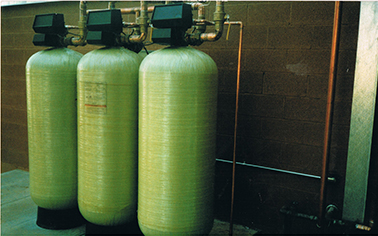 Three ECOsmarte tanks used in an ECOsmarte Commercial System for Business
