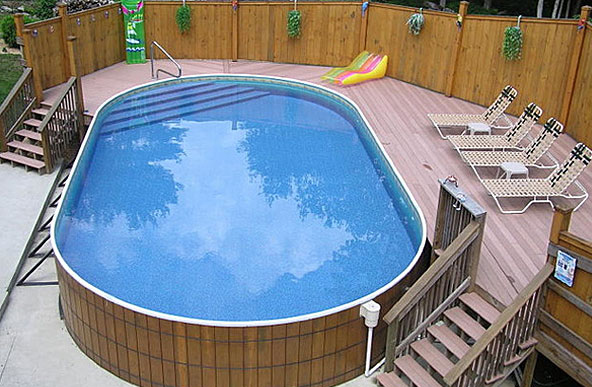 Small above ground pool.