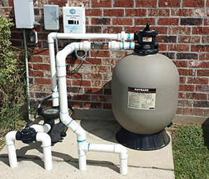 ECOsmarte turbo pool system installed with a Hayward filter.