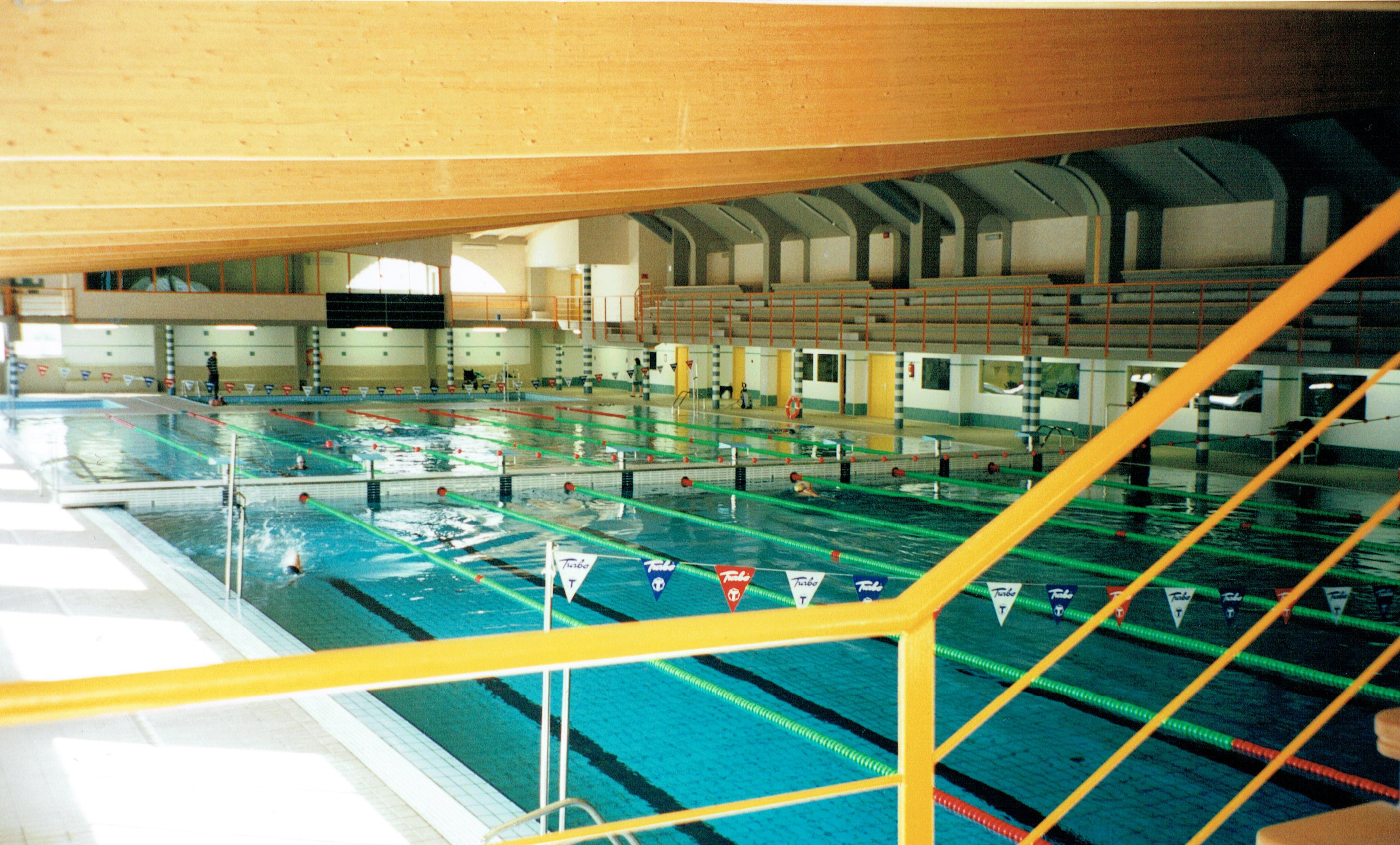 An indoor Olympic sized pool.