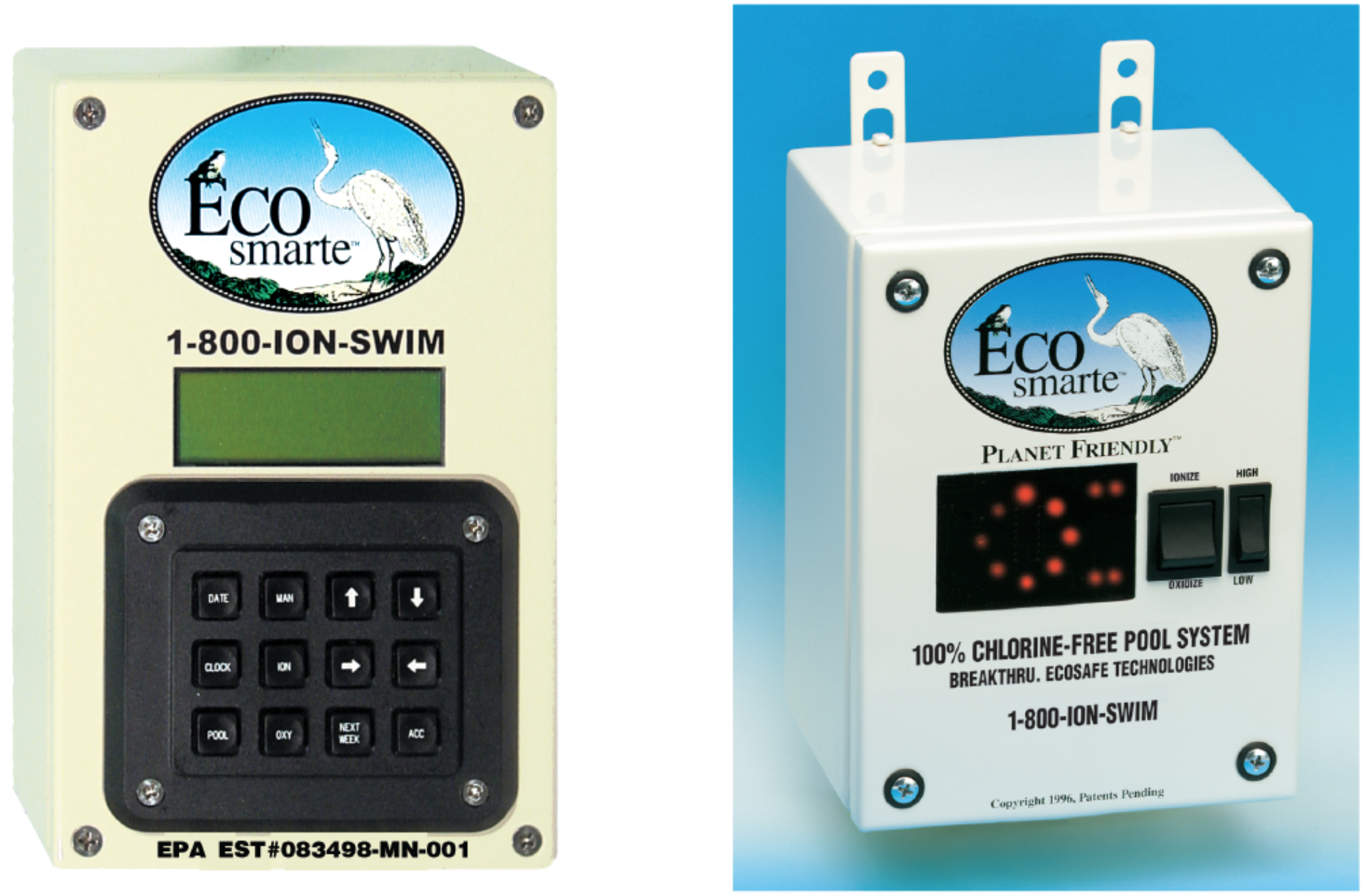 Two ECOsmarte control panels