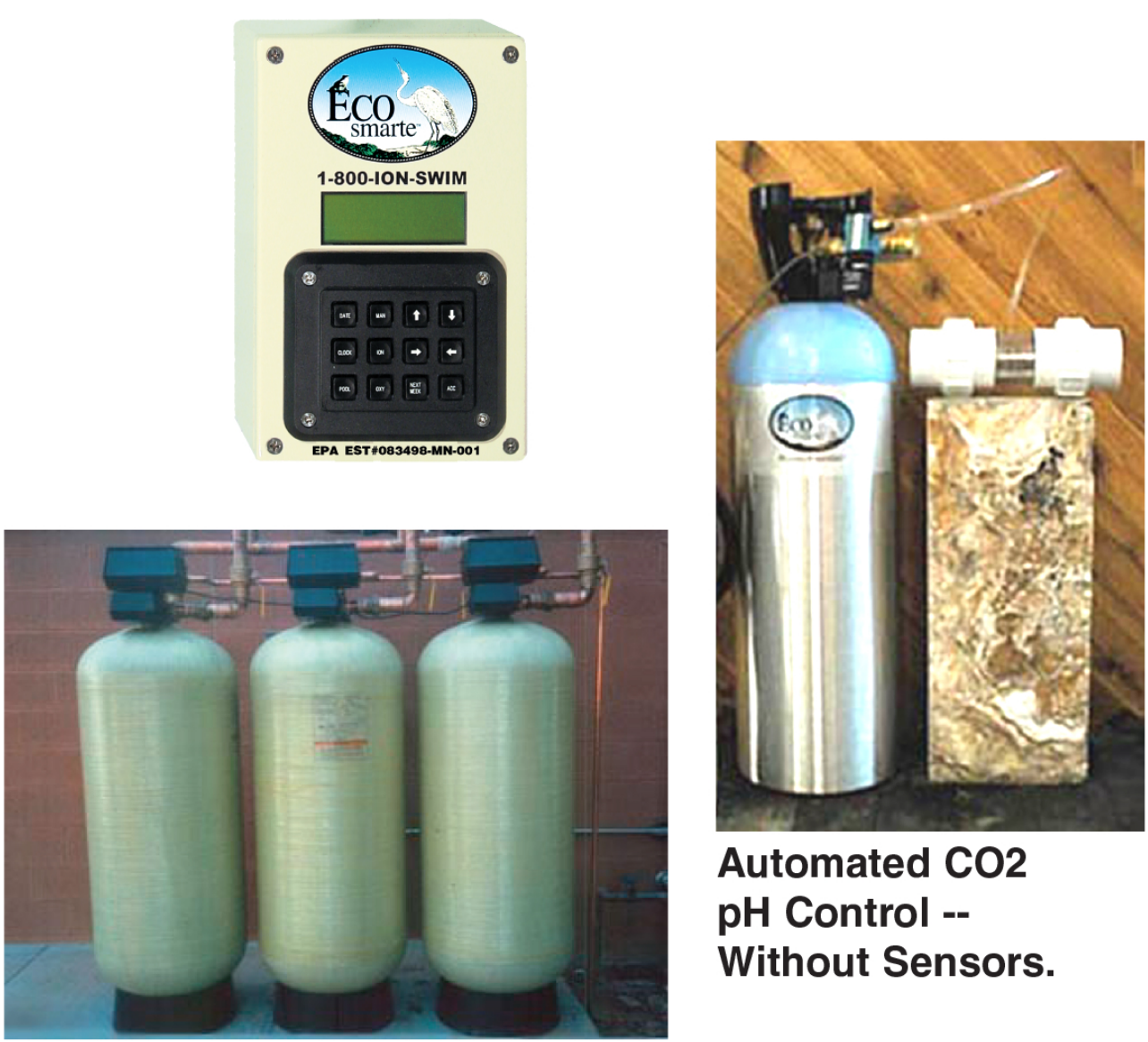 ECOsmarte control panel, CO2 system, and tanks.