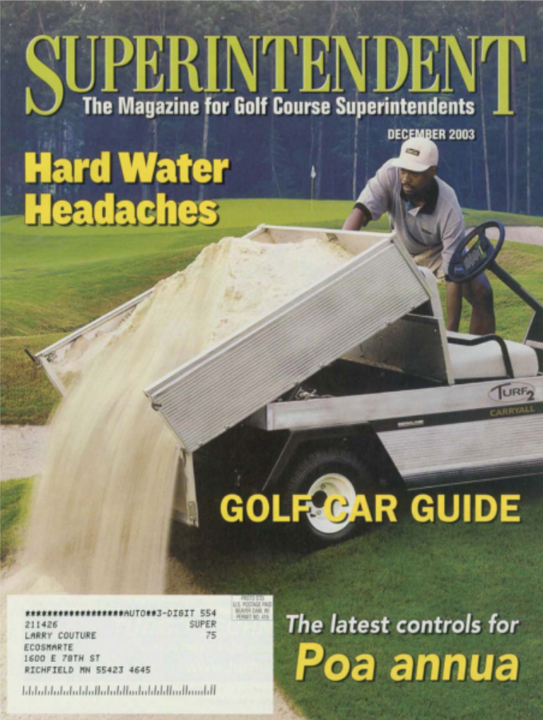 "Golf Magazine with Head Line talking about ""Head Water Headaches"""