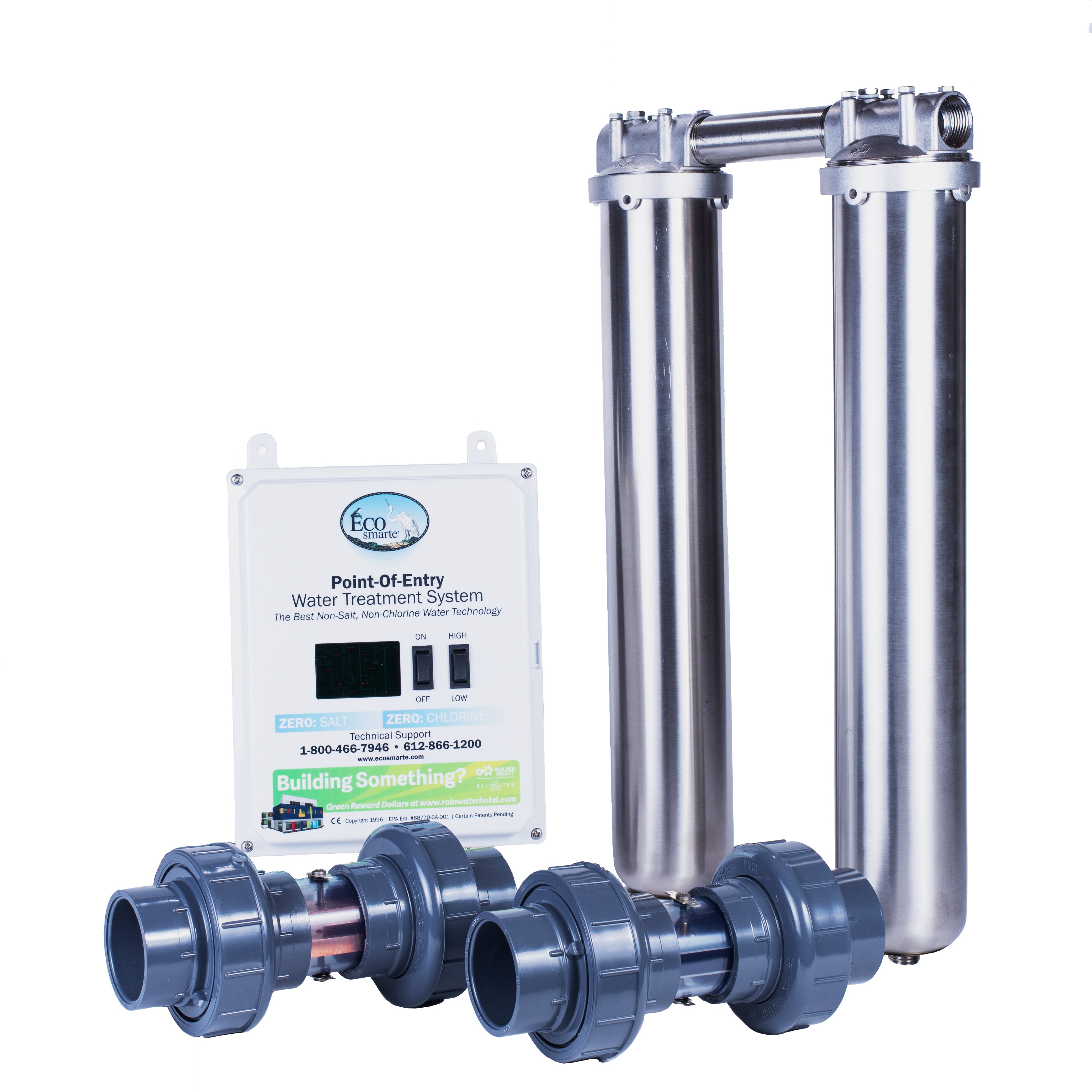 Stainless steel ZERO Backwash System