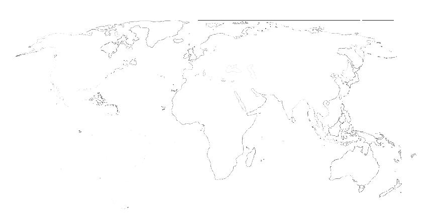 World map outline