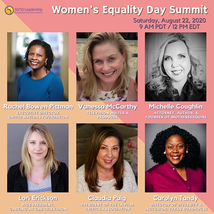 50/50 Leadership: Women's Equality Day Virtual Summit