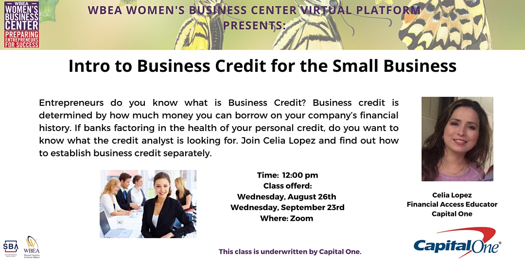 WBEA Women's Business Center: Introduction to Business Credit for the Small Business Owner