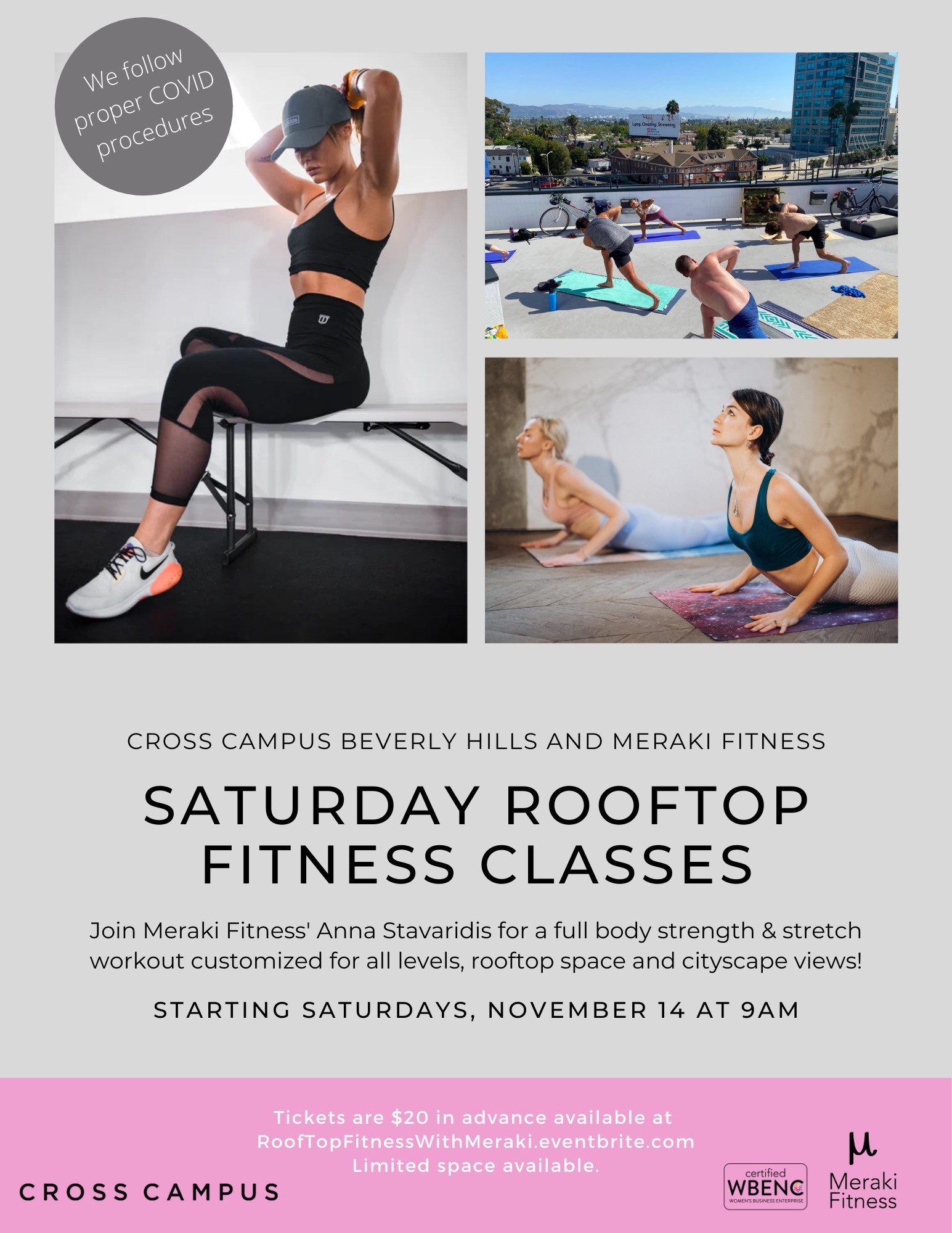 Saturday Rooftop Workouts with Meraki Fitness