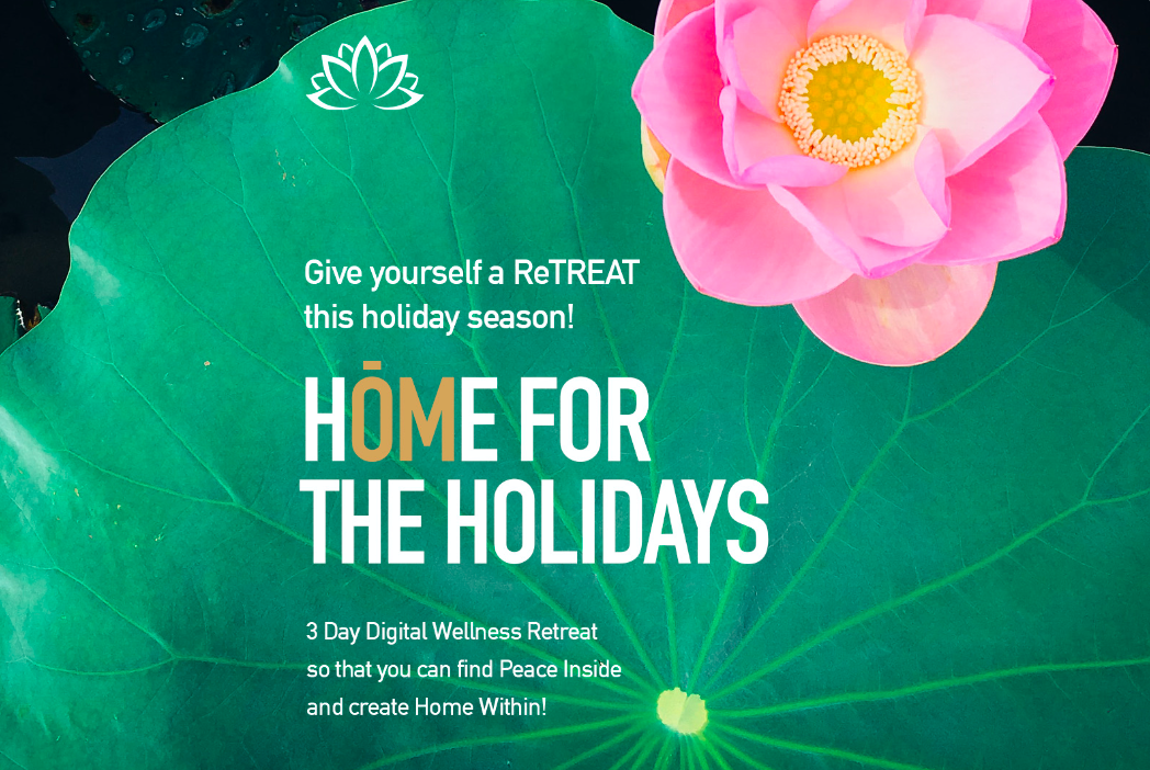 """Peace Inside Live Presents """"HOME FOR THE HOLIDAYS: FINDING HOME WITHIN""""  (3 Day Virtual Retreat)"""