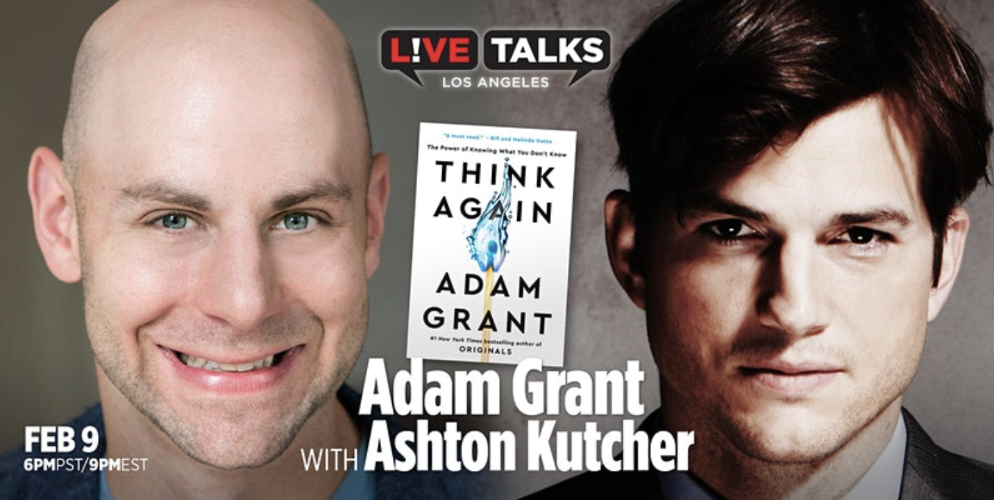 """Live Talks Presents: """"Think Again: The Power of Knowing What You Don't Know"""""""
