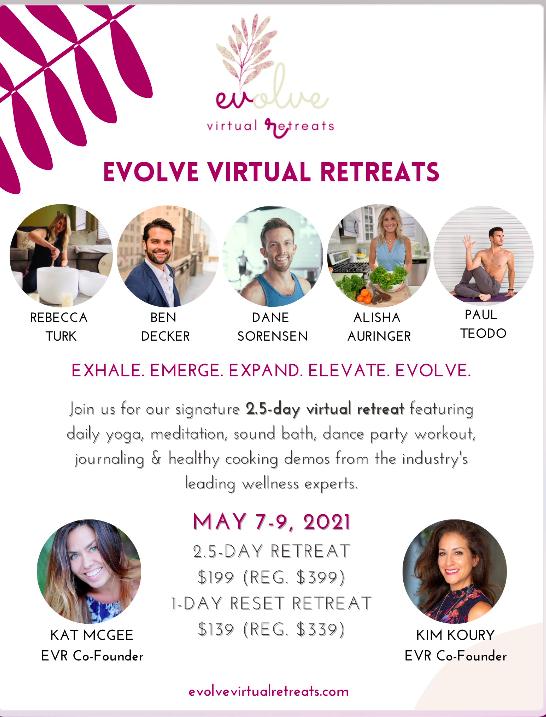 "Evolve Virtual Retreats ""A Time to Emerge & Evolve"""