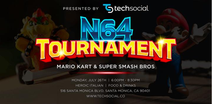 """TechSocial Presents: """"Nintendo 64 Tournament & Tech Mixer"""""""