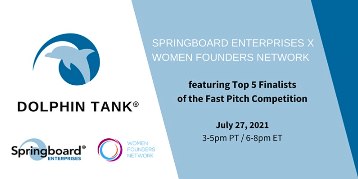 """Sprinboard Enterprises x Women Founders Network Presents: """"Top 5 Finalists of the Fast Pitch Competition"""""""