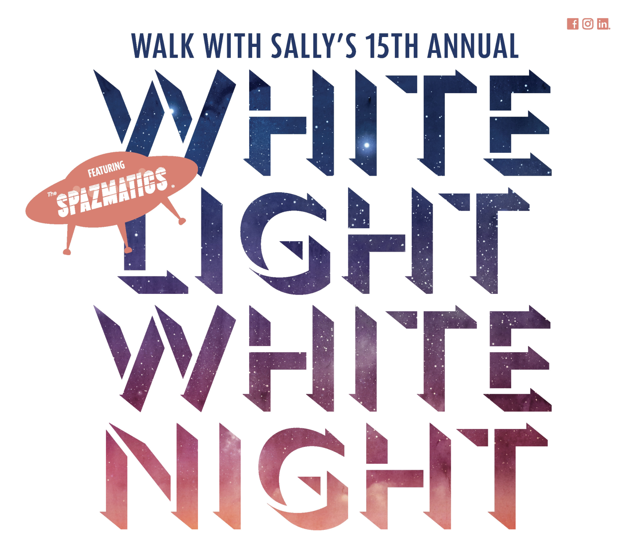 15th Annual White Light White Night   Walk With Sally   Annual Summer Fundraiser