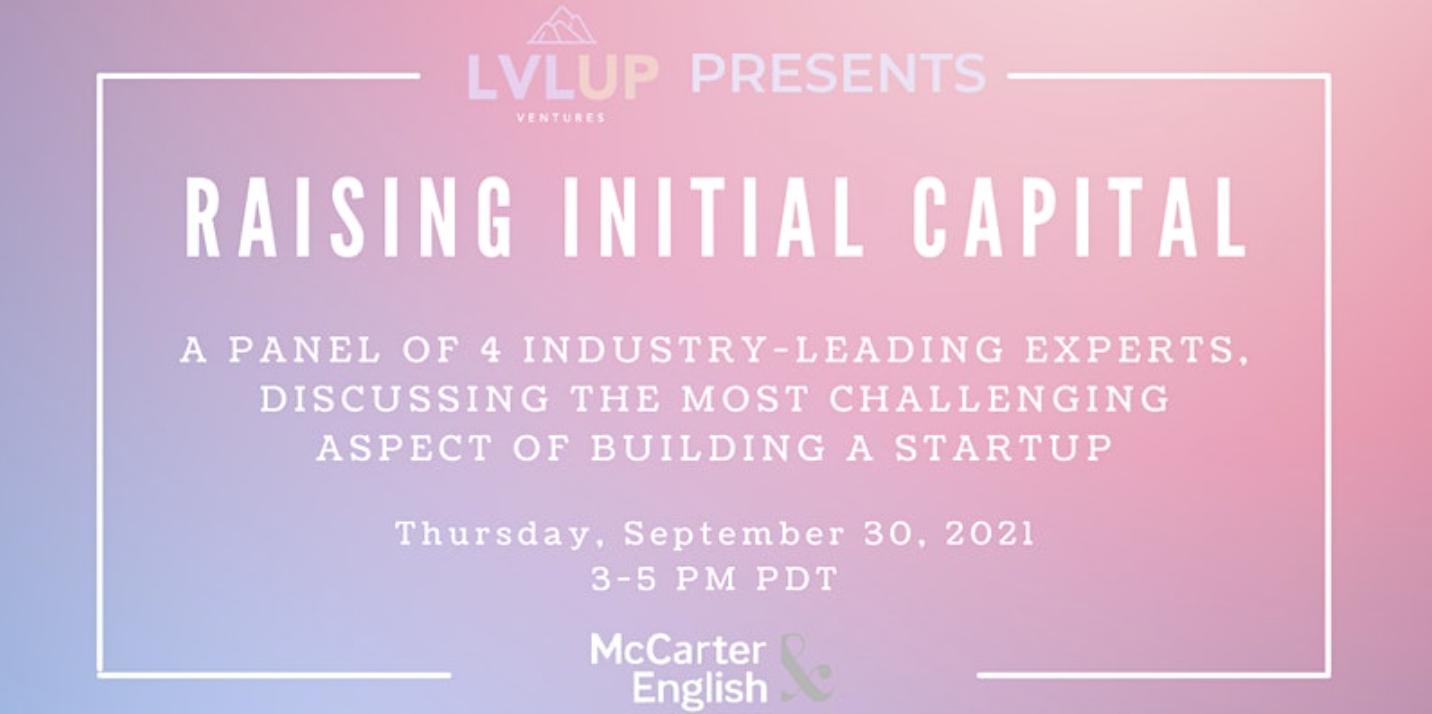 Raising Initial Capital - Investor Panel