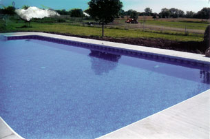 Clear water pool installed in Kansas, USA in 2009