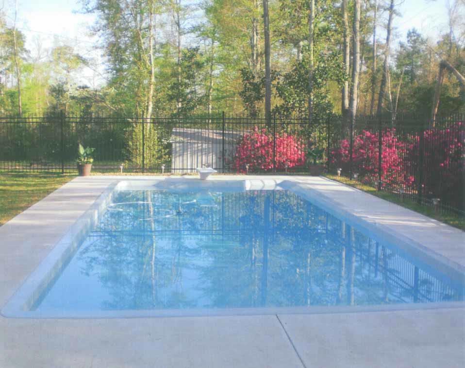 Chemical-free salt-free home swimming pool in Lumberton, Texas