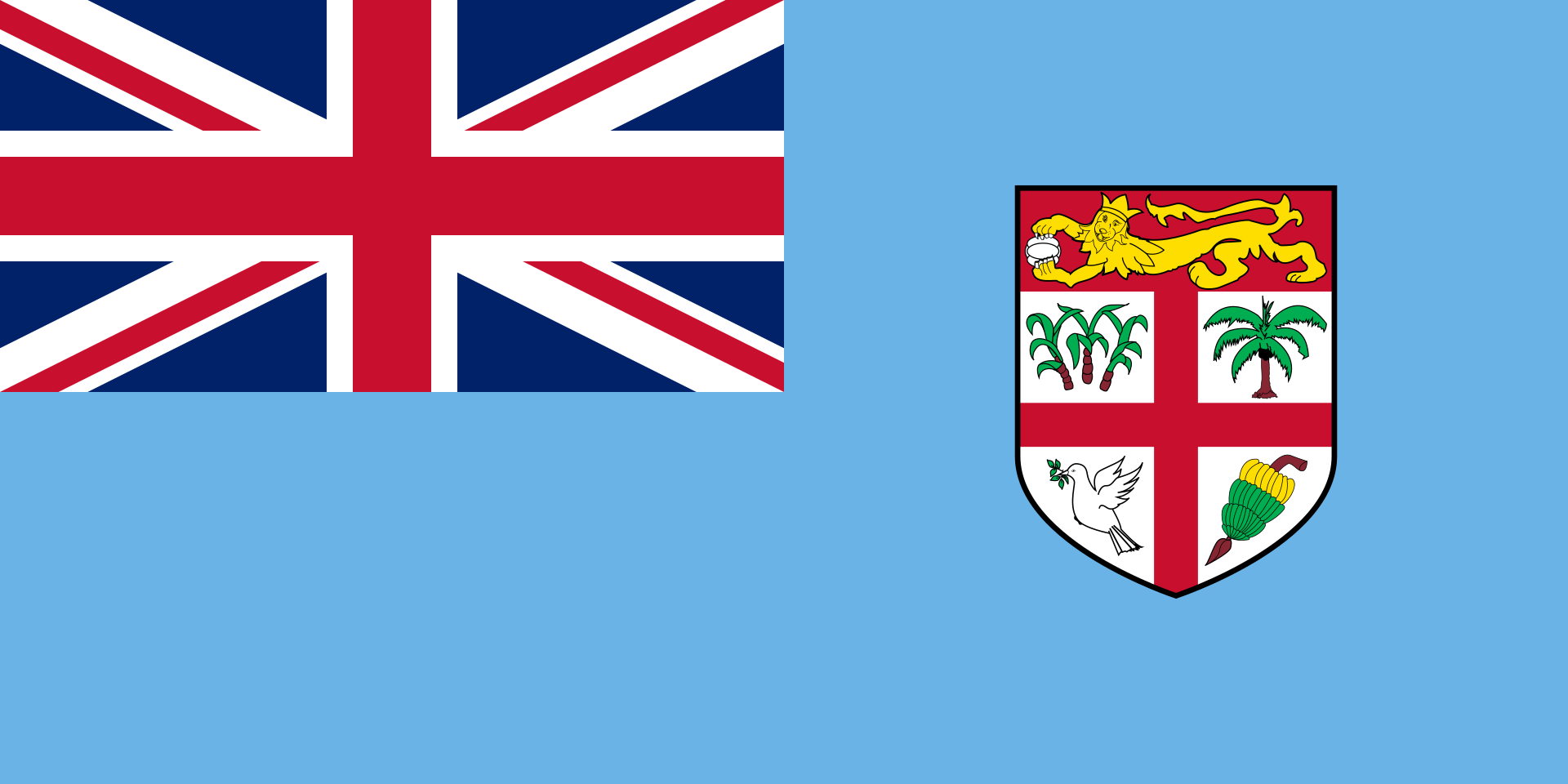 Chemical-Free Fiji Pool Builder Flag