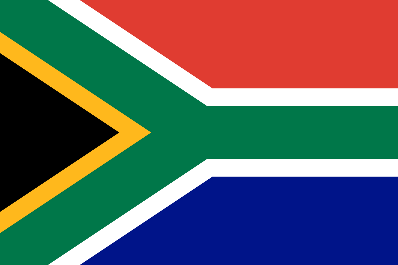 Chemical-Free South Africa Pool Dealer Flag