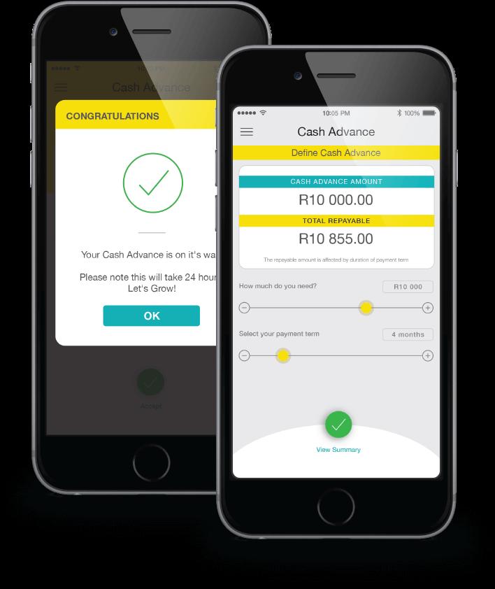 ikhokha cash advance app screens