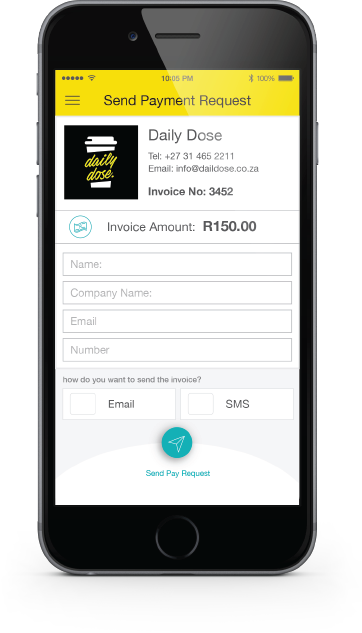 ikhokha send pay request app screen