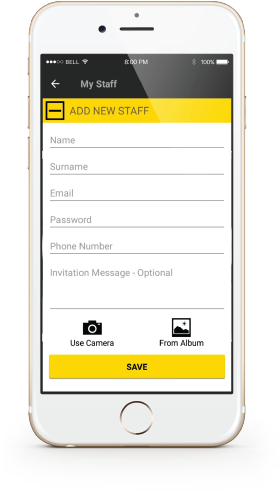 ikhokha staff accounts app screen