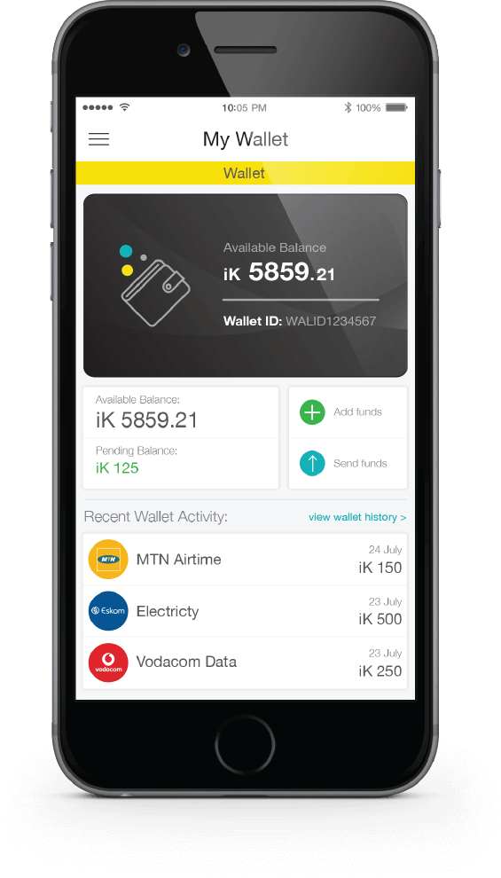 ikhokha prepaid vas app screen