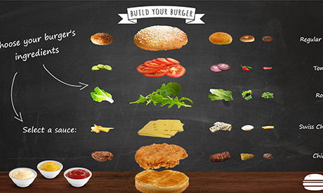 interactive menu board