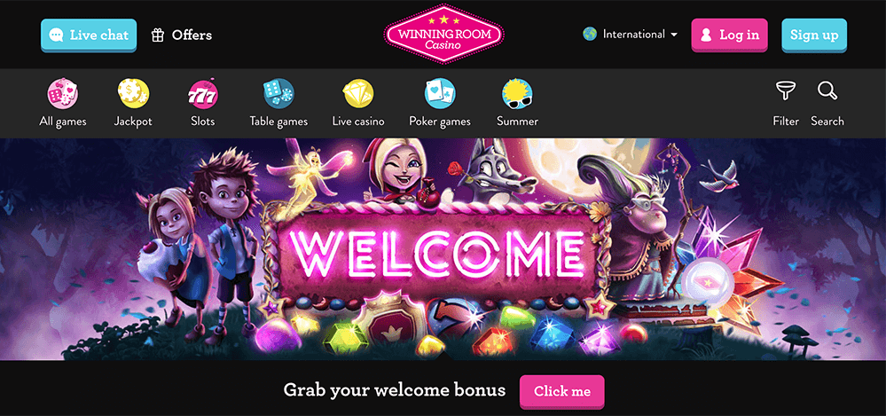 WinningRoom Online Casino Review and Bonus - AboutSlots