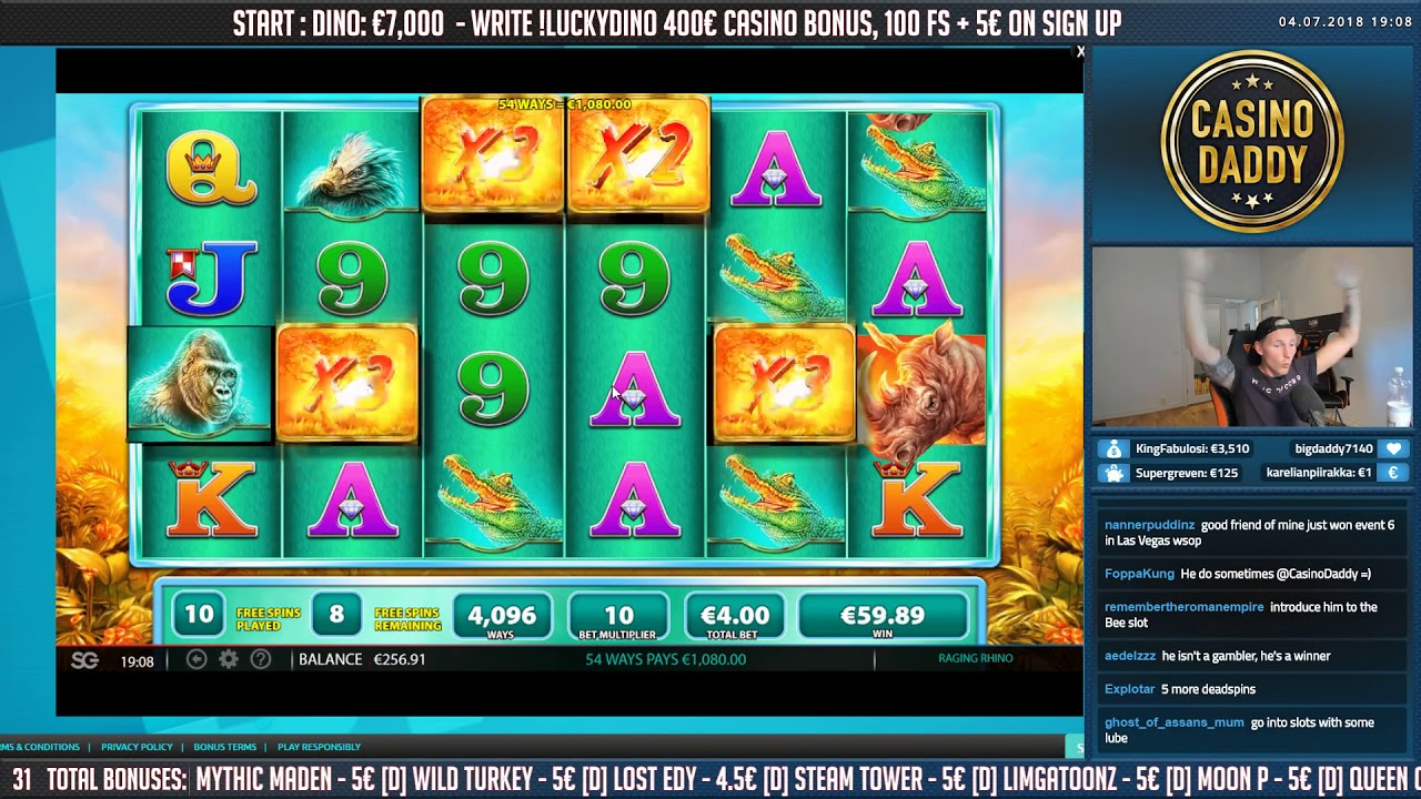raging rhino slot big win
