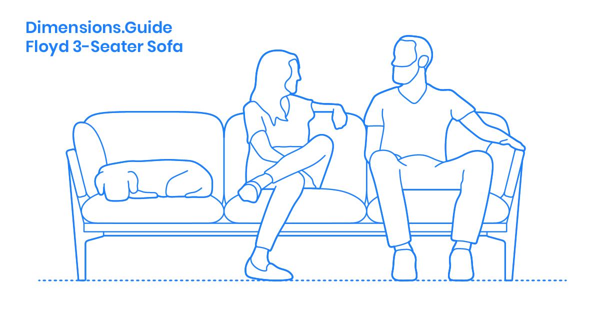 Floyd 3-Seater Sofa Dimensions & Drawings   Dimensions.Guide