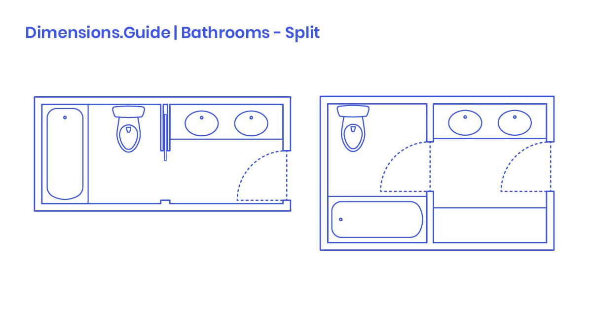 Outstanding Split Bathrooms Dimensions Drawings Dimensions Guide Interior Design Ideas Skatsoteloinfo