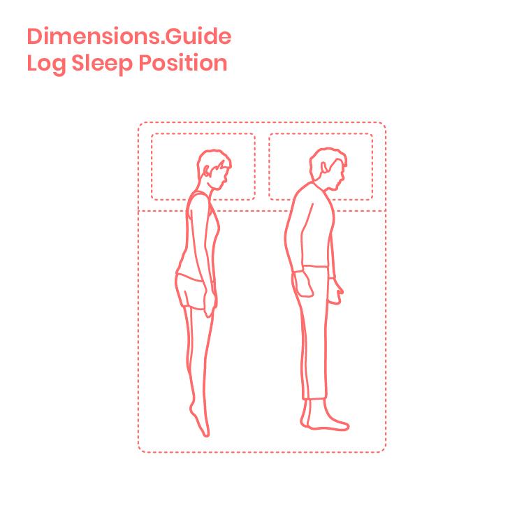 Log Sleeping Position Dimensions Drawings Dimensions Com