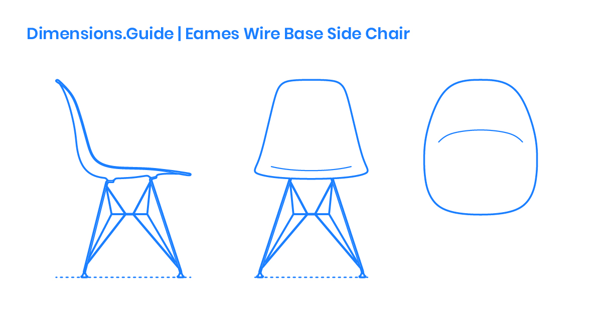 Eames Wire Base Side Chair Dimensions Drawings Dimensions Com