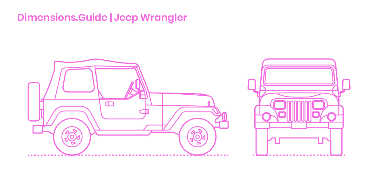 Jeep Wrangler Dimensions Drawings Dimensions Com
