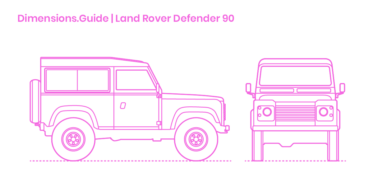 Land Rover Defender 90 Dimensions & Drawings | Dimensions Guide