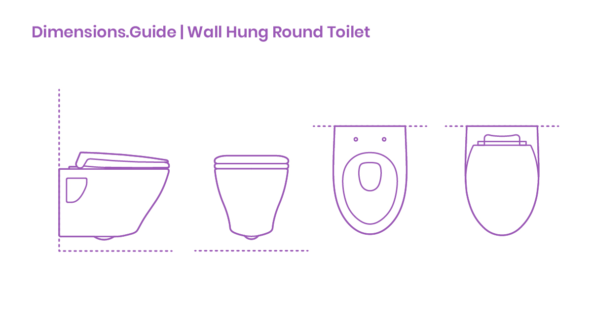 Wall Hung Round Toilet Dimensions Amp Drawings Dimensions