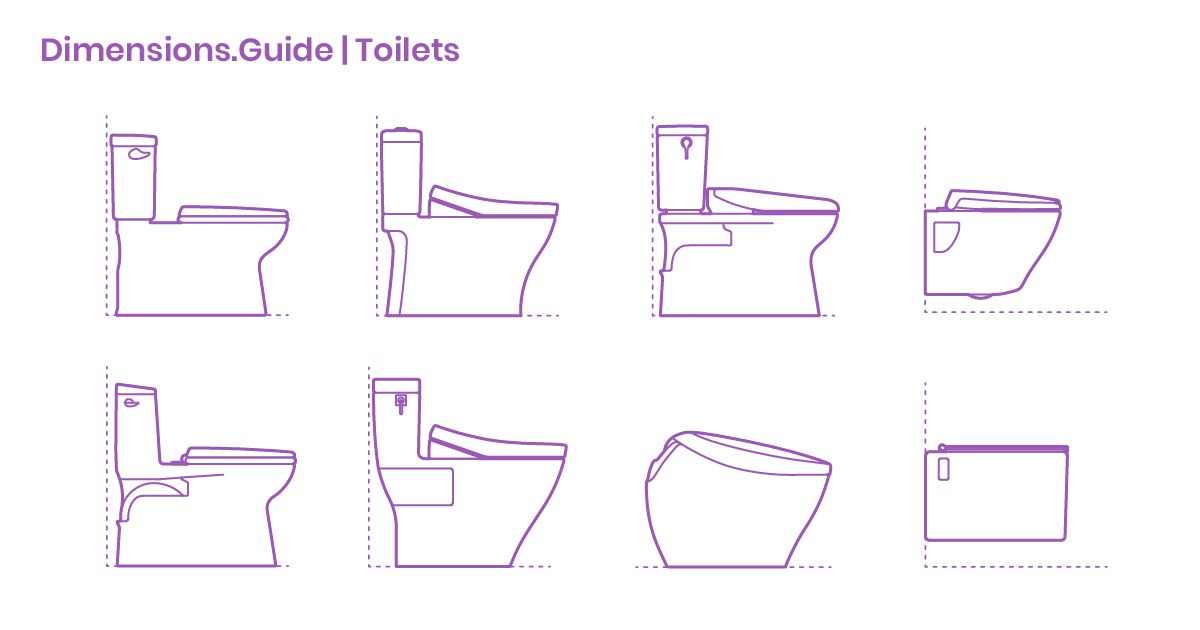 Toilets Dimensions Amp Drawings Dimensions Guide