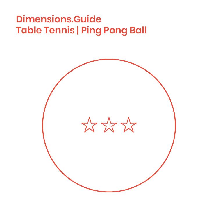 Ping Pong Balls Dimensions Amp Drawings Dimensions Guide