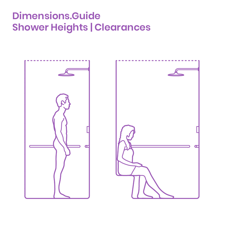 Shower Heights Clearances Dimensions Amp Drawings